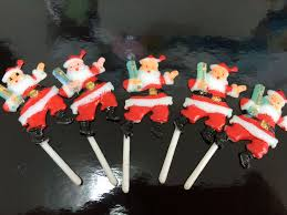 Christmas Cake Decorations Santa by Christmas Cake Decorations Santa Picks 5pk Cake And Sugar Art
