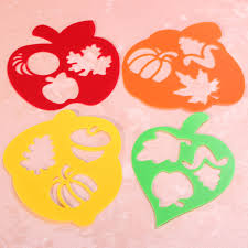 aliexpress com buy 4pcs plastic fruit shape children template