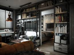 bedrooms decor loft apartment brick three dark colored loft