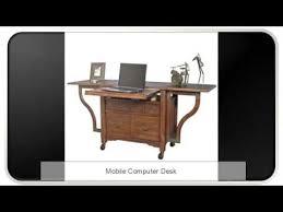 Movable Computer Desk Mobile Computer Desk Youtube