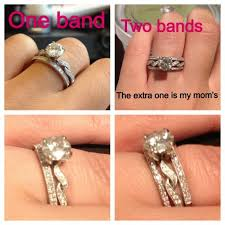 wedding ring with two bands one wedding band or two bands weddingbee