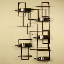 exciting design diy wine rack ideas with brown color metal art