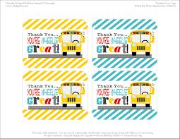free printables bus driver appreciation