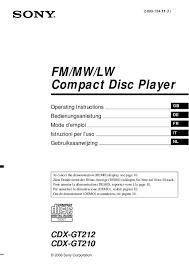 sony cdx gt210 wiring diagram dolgular com