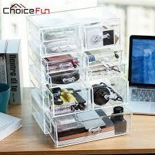 accessoire bureau luxe choicefun de luxe en plastique boîtes de rangement conteneurs cd