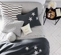 the emily u0026 meritt ticking stripe patchwork quilt u0026 pillowcase