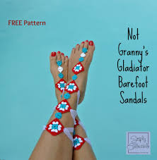 free crochet pattern not granny u0027s barefoot sandals u2013 make it crochet