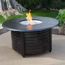 Propane Coffee Table Fire Pit by Red Ember Richland 48 In Round Propane Fire Pit Table With