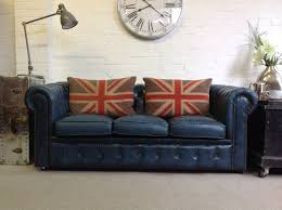 Chesterfield Style Sofa by Air Force Blue 3 Seater Chesterfield Sofa U2013 Chesterfields At The