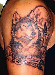 wolf and moon tattoo ideas toycyte
