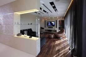 glaspaneele küche trennwand küche wohnzimmer dekorative