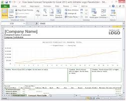 Sales Forecast Spreadsheet Exle by Free Sales Forecast Template For Excel 2013 With Editable Logo