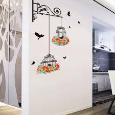 aliexpress com buy cute waterproof birdcage wall stickers home