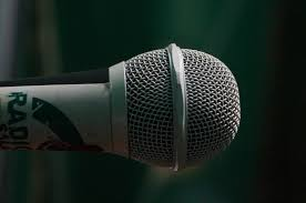 Radio Microphone Talk And Music About How To Start An Internet Radio Station