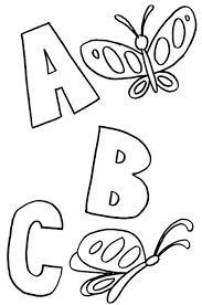 coloring pages abc printable abc worksheet pdf
