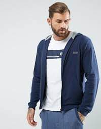boss by hugo boss hoodie with zip thru asos men pinterest