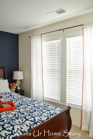 how to make curtains from flat sheet pom pom curtain whats ur