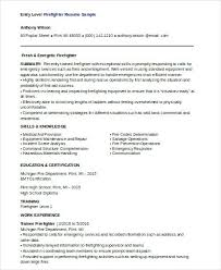 firefighter resume templates firefighter resume template entry level sle collaborativenation