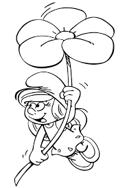 smurfette from smurfs lost village coloring page get