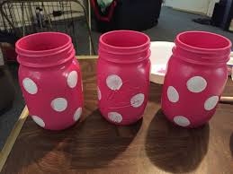 minnie mouse jars for center pieces baby shower pinterest