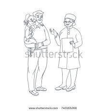 female doctor clipboard vector clipart physician stock vector