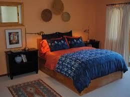 minimalist peach and cobalt bedroom color idea 4 home ideas