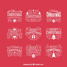 vintage christmas badge on a red background vector premium download