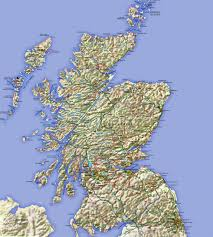 Map Scotland Large Map Of Scotland With Relief Roads Major Cities And