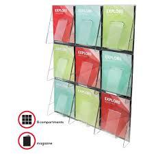 wall mounted sharps containers deflect o 56801 deflect o 9 pocket wall mount literature rack
