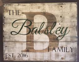 wedding gift name sign wood name sign etsy