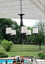 Decorating With Chandeliers Battery Operated Outdoor Chandelier With Beautiful 29 In Home And