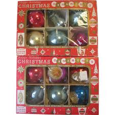 set of 12 vintage glass christmas ornaments czechoslovakia indents