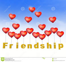 friendship heart friendship heart letters stock illustration image 52339001