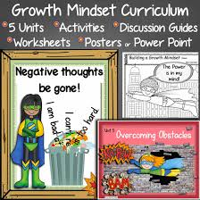 growth mindset curriculum discussion guide powerpoint posters