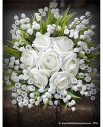 of the valley bouquet artificial flowers of the valley bunch wedding or home