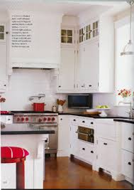 Red Kitchen White Cabinets These Tall Kitchen Cabinets With Glass Doors Are Adorable Loving