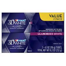 amazon com crest 3d white luxe glamorous white vibrant mint