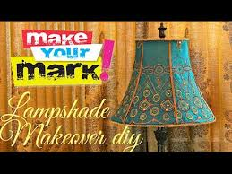 Diy Lamp Shade How To Fancy Lampshade Makeover Diy Youtube