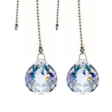 decorative pull chain ceiling light magnificent crystal 30mm clear crystal ball prism 2 pieces