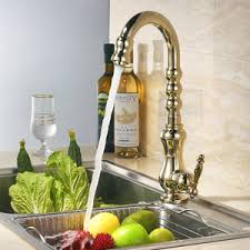 polished brass kitchen faucet discount polished brass gold vintage rotatable kitchen sink faucet