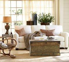 Cozy Cottage Living Room Wall To Wall Bookshelves Pottery Barn - Pottery barn family room