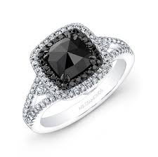 white and black diamond engagement rings white and black gold black cut diamond center engagement ring