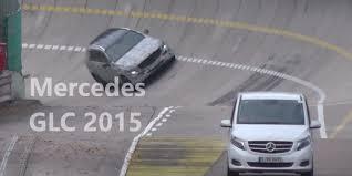 mercedes stuttgart 2016 mercedes glc spied testing on banked test track in stuttgart