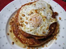 Cold Dinner Dinner Place Bacon Granola Pancakes With Fried Egg Or Your Very
