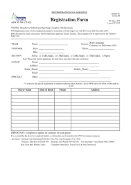 Registration Form Template Excel Blank Form Template Template Ptasso