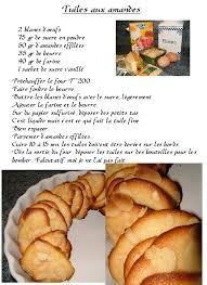 recette de cuisine a imprimer tuiles aux amandes de cuisine créative recettes popotte de
