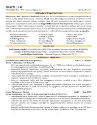 Qualifications In Resume Examples by 6 Sample Military To Civilian Resumes U2013 Hirepurpose