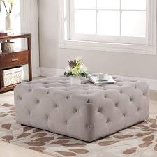 Gray Leather Ottoman Table Black Leather Ottoman Coffee Table Oval Rectangular Gray