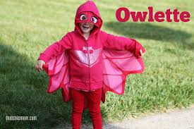 chic mom diy pj masks owlette halloween costume
