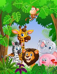 safari cartoon cartoon safari animal in the jungle royalty free cliparts vectors